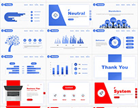 2 in 1 Best business Blue Red PowerPoint templates