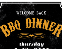Welcome Back BBQ Dinner poster