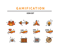 Gamifictaion Icon set II