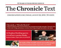The Chronicle Text - Type Specimen