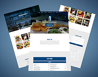Fish and Chips Restaurant Landing Page.