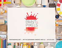 Paint&Pixels logo and branding