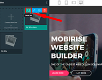 Mobirise v4.3.4 - Clone Pages Feature!