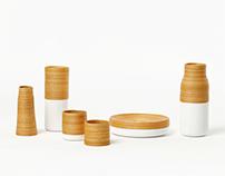 Tableware design made of Korea Traditional Materials