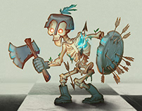 Evil chess character design