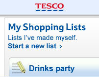 Tesco.com Shopping Lists