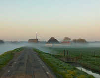 Dutch landscape in different seasons.