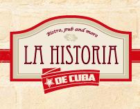 la historia de cuba bistro website redesign