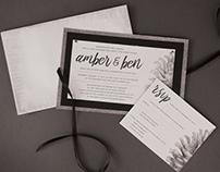 Wedding Invitations - Amber & Ben