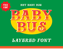 BBT Baby Bus Layered Font