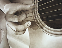 Six Strings - A series of paintings