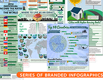 Series of Branded Infographics
