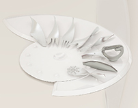 Seafood serving cutlery and plate ZEPTER 2013