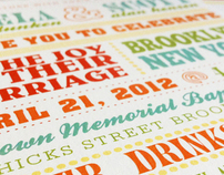 Vintage Poster Wedding Invitations