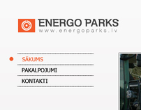 SIA ''Energo parks'' web project visualization