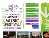 Music Festival new website performs