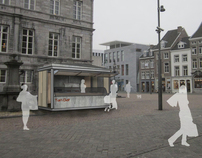 Market kiosks in Maastricht