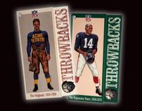 NFL Print, Throwbacks Vintage Collection Retail Apparel