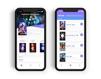 电影管理应用界面(Movie Application)