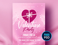 Free Flyer Template - Valentines Day
