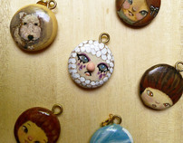Handpainted Charms