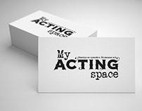 My acting space logotype design