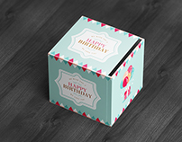 Square Box / Package Mock-Up 3