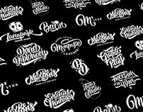 Lettering logos set 2