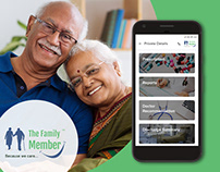 Elder Healthcare - TFM Mobile UI & Web Design