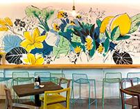 Lexi's Healthy Eatery: Mural