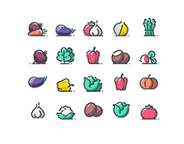 25+ Best Fruit / Vegetable Icons for Vegan & Food Busin