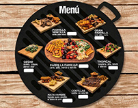 Diseño menú/ Fotografia Budare & Grill
