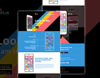 Free: Fion – Mobile App Landing PSD Template