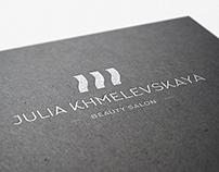 """Фирменный стиль для салона красоты """"Юлии Хмелевской"""""""