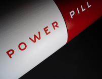 "Energy Drink ""Power Pill"" concept and packaging"