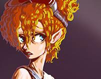 Cyberfunk-steampunk girl