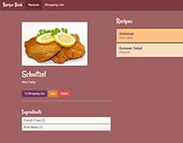 Online Recipe Book Design