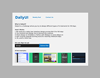 Daily UI | #100 | Redesign Daily UI Landing Page