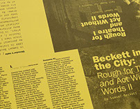 Beckett in the City Programme Design