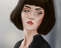 Brunette Model Illustration