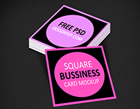 Free Square Business Card Mockup PSD
