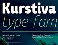New Release: Kurstiva typeface