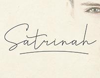 FREE | Satrinah Script Font