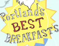 Portland's Best Breakfasts Map Illustration