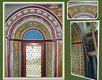 MURALS: Ornaments - Windows - Etropole Monastery, BG