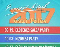 ParkettKlub 2017 Őszi Plakátok