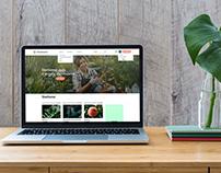 """""""Floramore"""" internetinio portalo dizainas"""