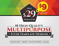 18 High Quality Multipurpose Flyer Template Designs