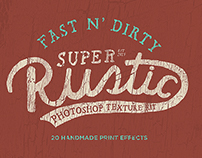 Rustic photoshop texture kit