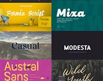 Free Fonts Compilation - Updated December 2016